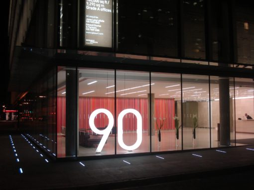 Architectural illuminated sign for prestige City offices