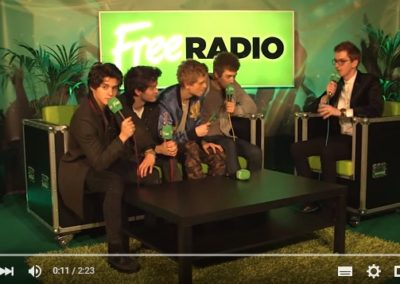 Lightbox for Free Radio with The Vamps