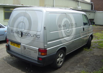 Signage, graphic and print. Vehicle Wraps. Elite Cooling