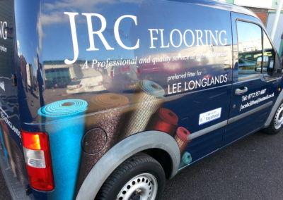 Signage, graphic and print. Vehicle Wraps. JRC Flooring
