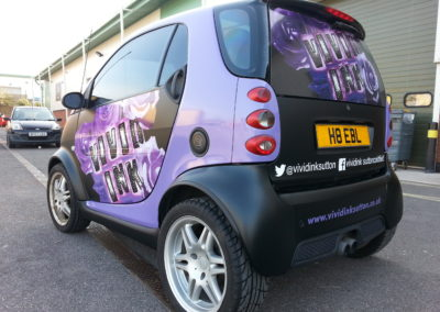 Signage, graphic and print. Vehicle Wraps. Vivid Ink