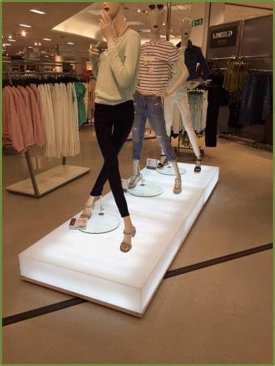 Innovative Light Box Plinth for Marks & Spencer