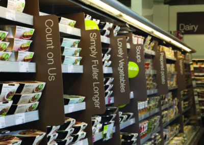 Core food fins for Marks & Spencer.