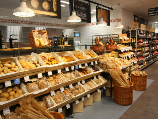 M&S Foodhall, Bakery and Cafe Signage