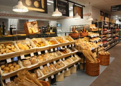 Marks & Spencer bakery and aisle wayfinding signage