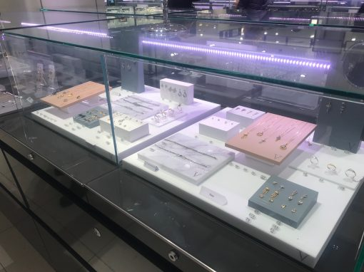 POS display for Laura Vann jewellery range