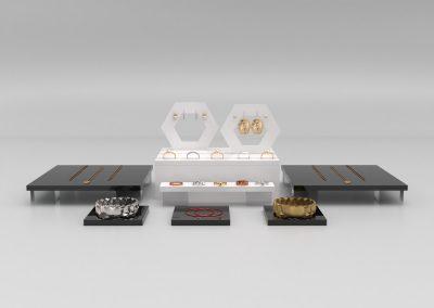 geo jewellery displays