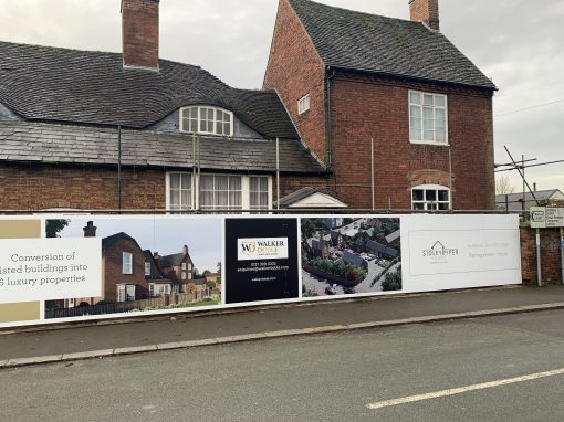 Site hoarding panels for Sidley Piper Homes
